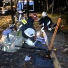 Спасатели и пожарные провели учения по извлечению пострадавших из-под завалов